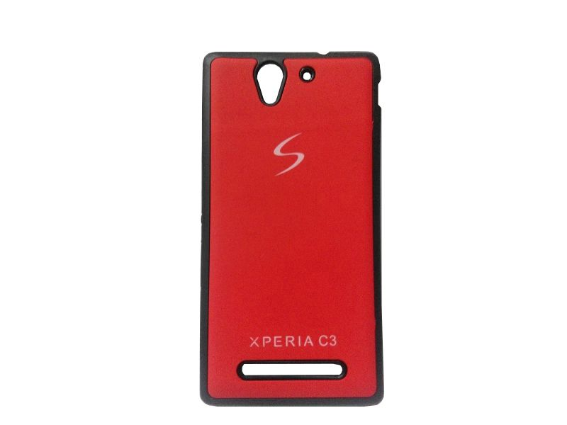 Buy Kelpuj Red Mobile Back Cover For Sony Xperia C3 online
