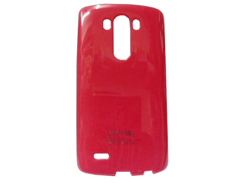 Buy Kelpuj Red Mobile Back Cover For LG G3 online