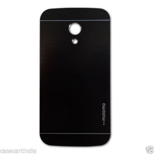Buy Tup Motomo Metal Back Case Cover For Motorola Moto G2 Black online