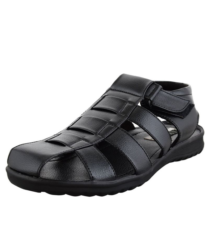 Buy Elvace Black Stripper sandals online