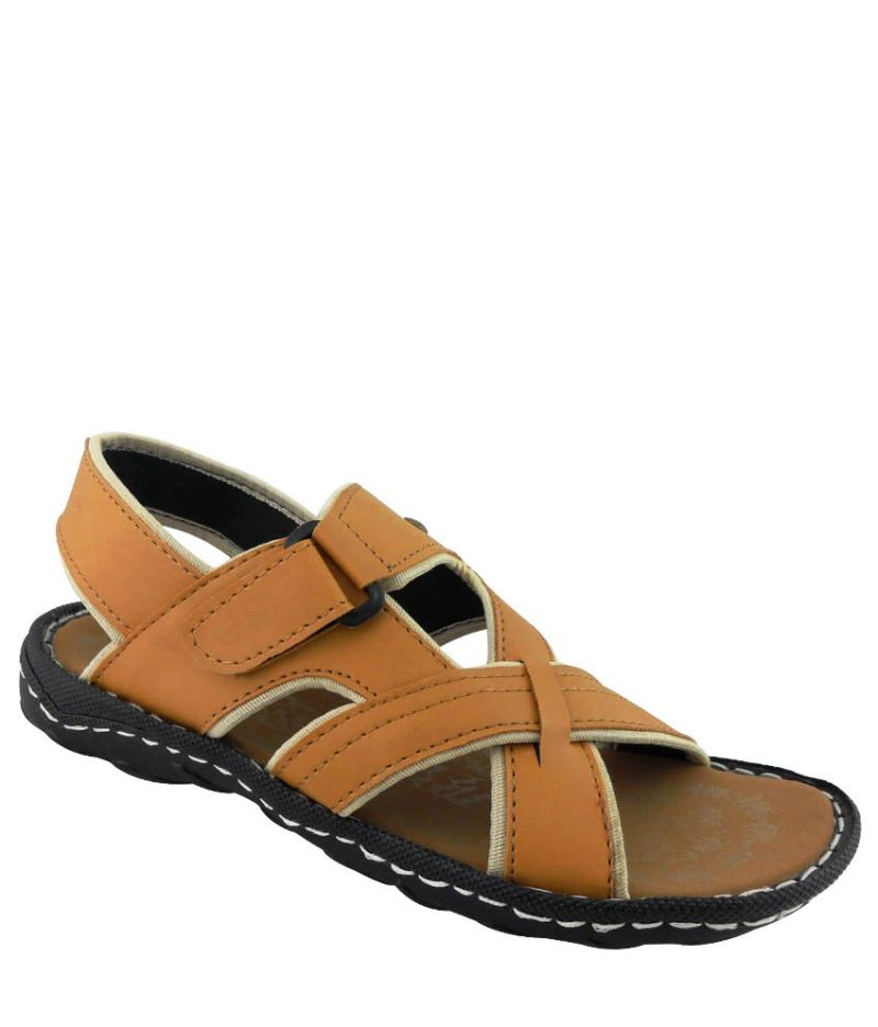 Buy Elvace Tan Sticher sandals online