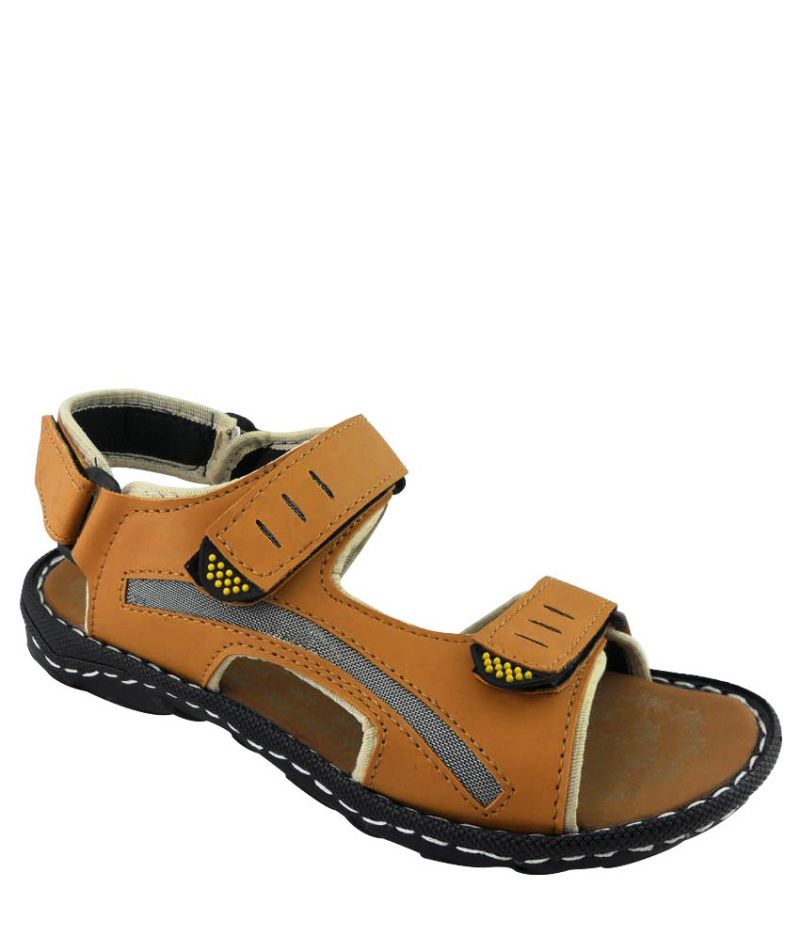 Buy Elvace Tan Gripper sandals online