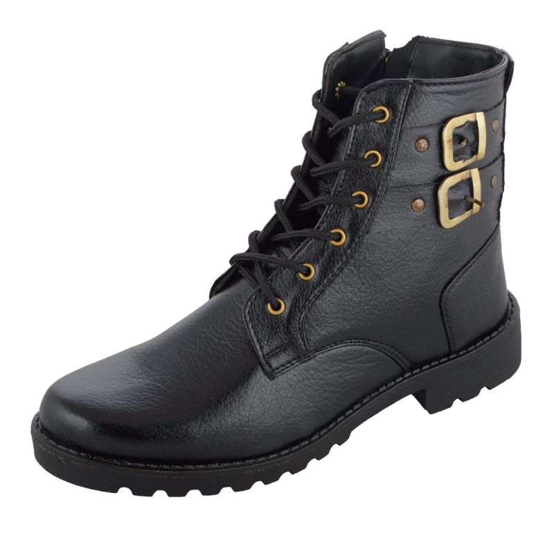 Buy Elvace Black High-ankle Boot Men Shoes_p online