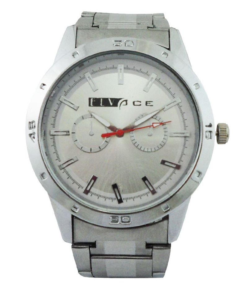 Buy Elvace Silver Aromson Men Watches online
