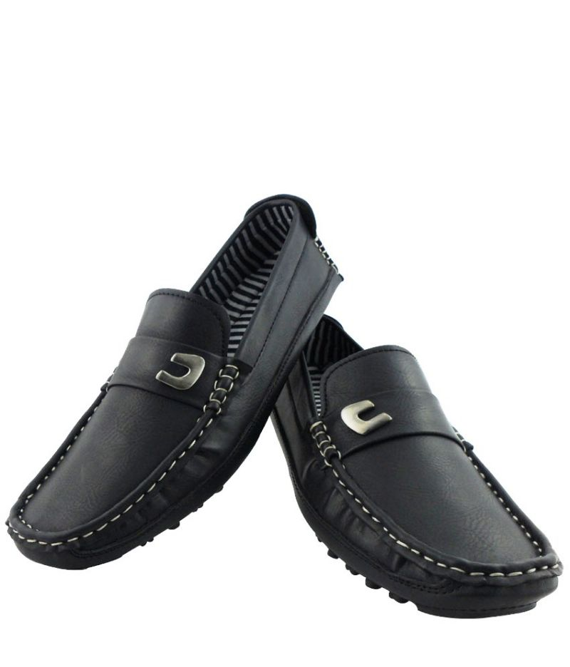 Buy Elvace Loafer Men Shoes Black online