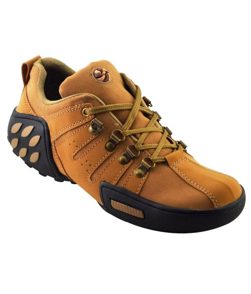 Buy Elvace Tan Woodleaf Sneakers Men Shoes online