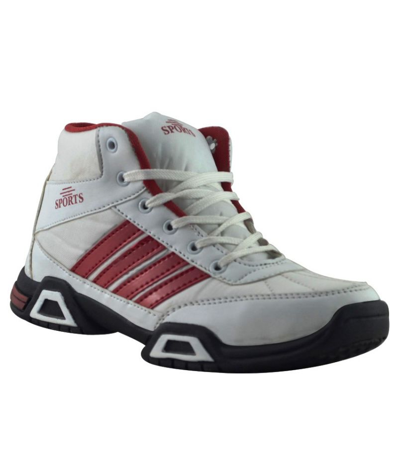 Buy Elvace White_Red Presive Sports Men Shoes online
