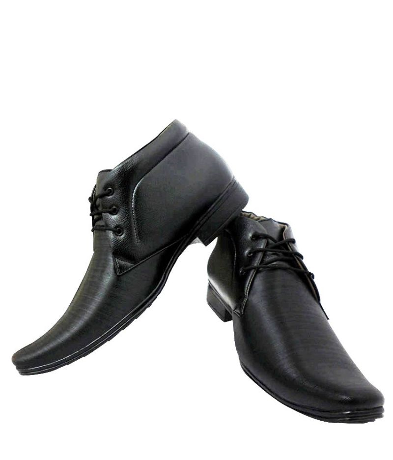 Elvace Black Office Formal Mens Shoes Online