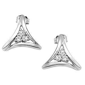 Buy Sheetal Diamonds 0.25tcw Real Round Diamond Stud Earring White Gold E0192-10k online