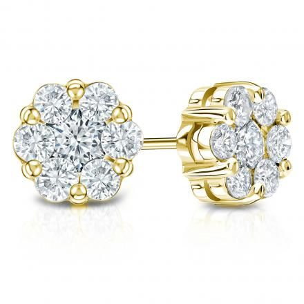 Buy Sheetal Diamonds 0.50tcw Awesome Real Round Diamond Cluster Earring E0358-14k online