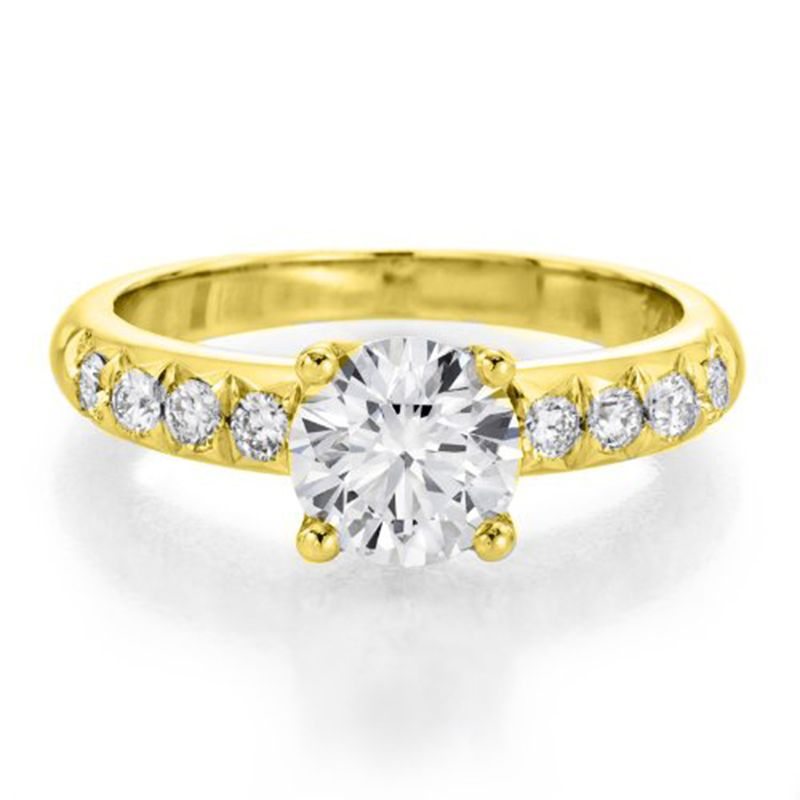 Buy Sheetal Diamonds 0.50tcw Real Round Solitaire Diamond Ring In Yellow Gold R0309-14k online