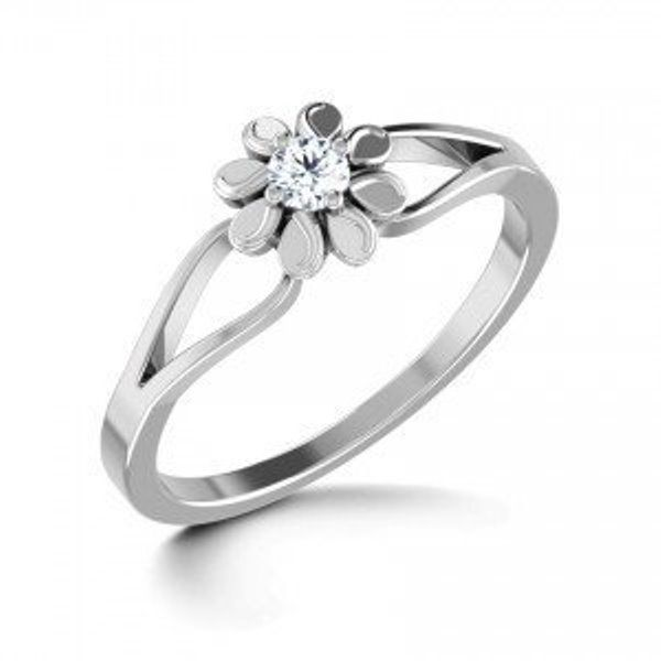 Buy Sheetal Diamonds 0.15tcw Real Round Brilliant Cut Diamond Ring R0443-10k online