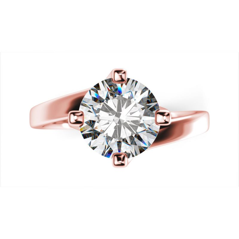 Buy Sheetal Diamonds 0.20tcw Stunning Real Round Solitaire Diamond Casual Wear Ring Rose Gold R0488-18k online