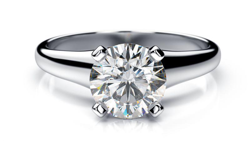 Buy Sheetal Diamonds 0.10tcw Beautiful Looking Real Round Solitaire Diamond Wedding Ring R0708-10k online