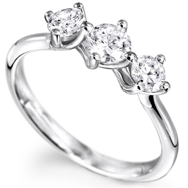 Buy Sheetal Diamonds 0.40tcw Real Round Shape Three Diamond Wedding Ring R0725-10k online