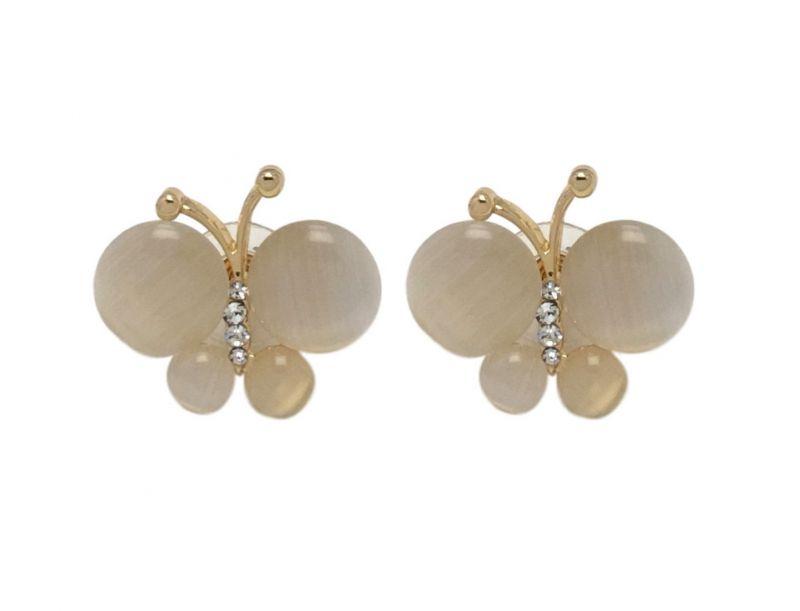 Buy Fashblush Cute Resin Butterfly Zircon Alloy Golden Stud Earring(product Code - Fb20242) online