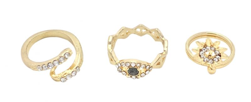 Buy FashBlush Forever Golden Bliss -Set Of 3 Rings online