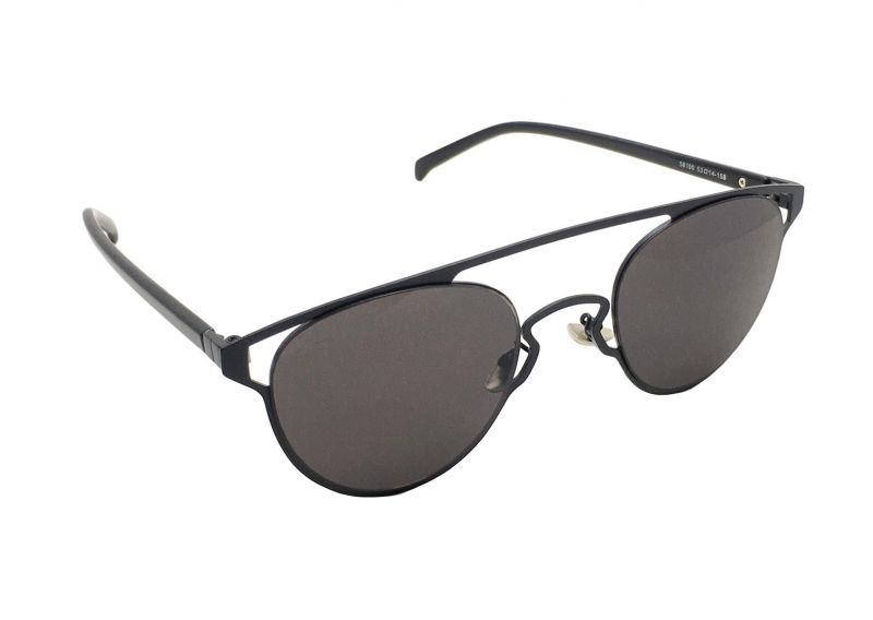 Buy Fashblush Sneak Peek Over-sized Oval Black Sunglasses For Unisex(product Code - Fb24113) online