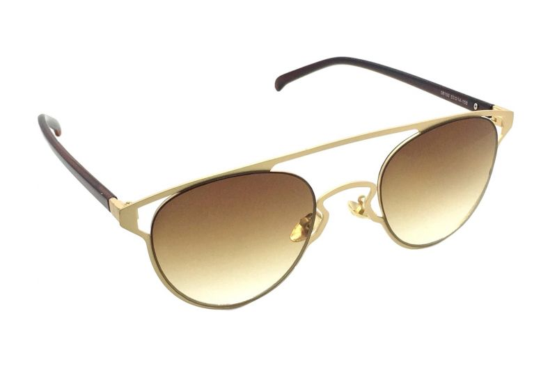 Buy Fashblush Sneak Peek Over-sized Oval Sunglasses(brown) , Unisex(product Code- Fb24116) online