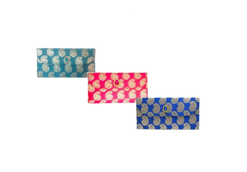 Buy Fashblush Designer Ethnic Festivity Glamour Envelopes(pack Of 3 Pink, Red, online