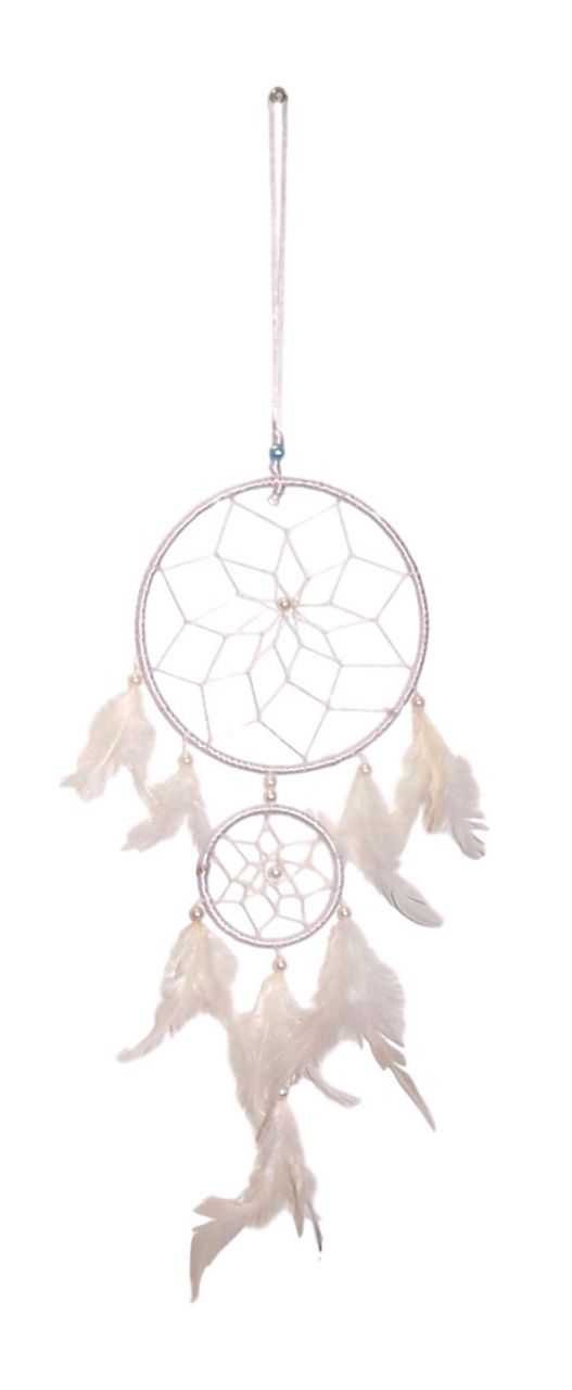 Buy Fashblush Mystical Feathers Dream Catchers Wool Windchime (24 Inch, White) online