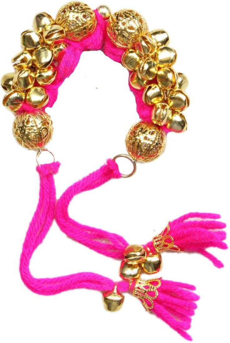 Buy Fash Blush Forever Young Ghungroo Magenta Alloy Bracelet online