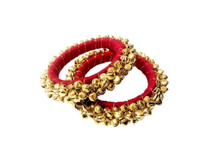 Buy FashBlush Forever Glam Ghungroo Shine Alloy Bangle Set (Pack of 2) online
