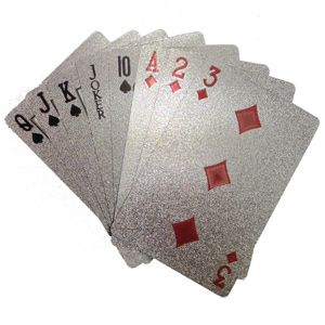 Buy Flintstop Silver Playing Cards online