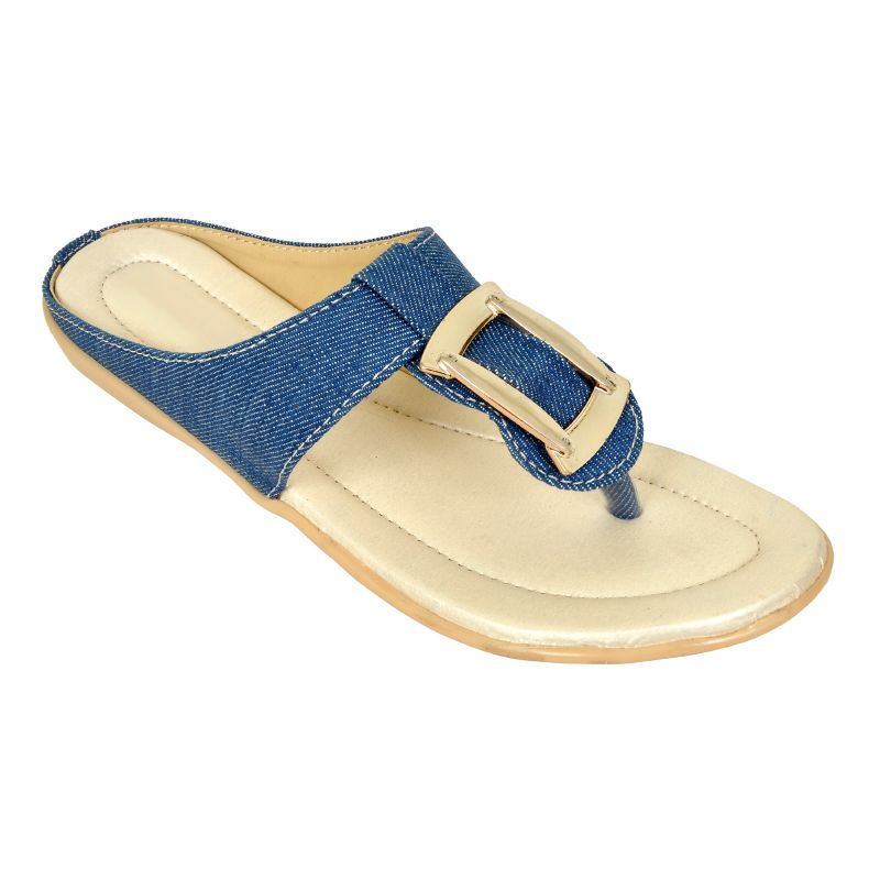 Buy Altek Stylish Elegant Denim Flat For Women (code Foot_1324_blue_p175) online