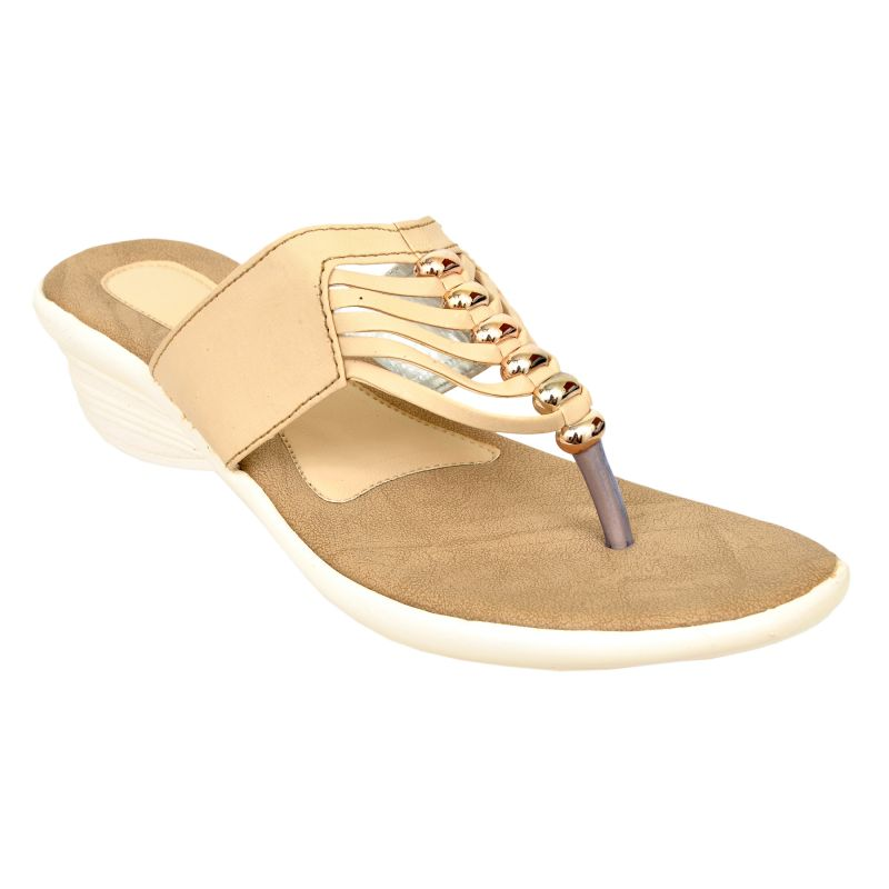 Buy Altek Designer Stylish Cream Wedges For Women online