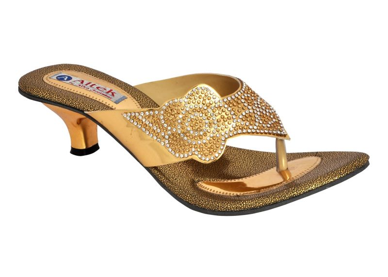 Buy Altek Designer Gold Kitten Heel Sandal (product Code ...