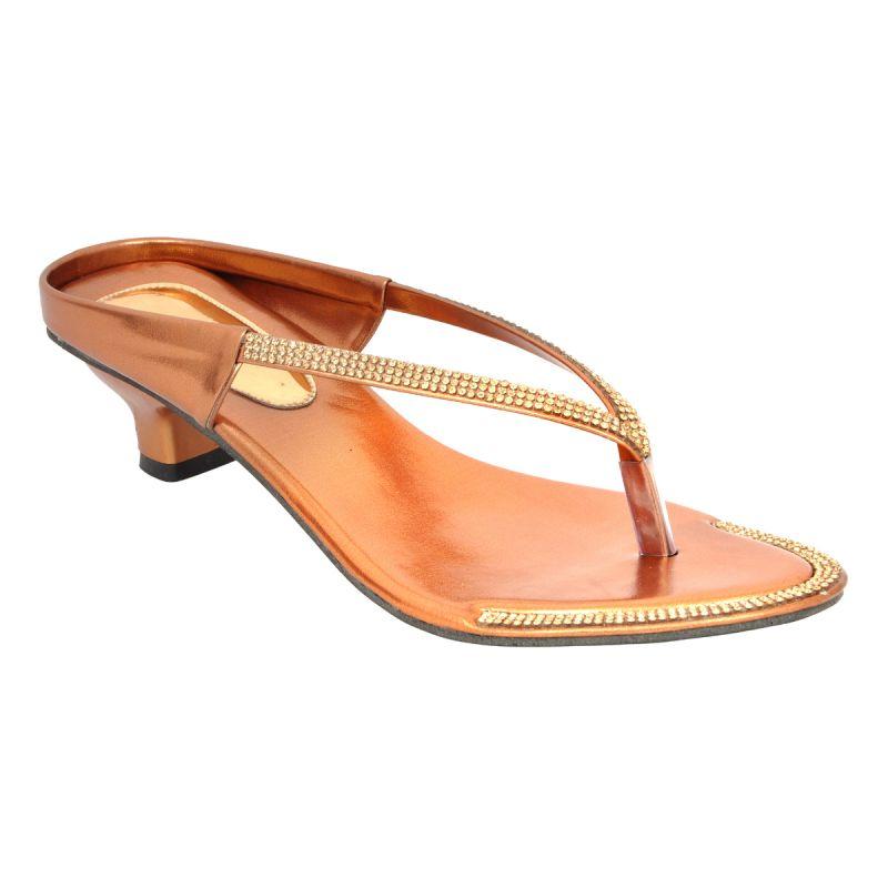 Buy Altek Designer Kitten Heel Copper Sandal (product Code - S1318_copper) online