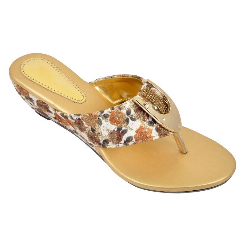 Buy Altek Comfort Designer Brown Heel Sandal (product Code - Foot_1353_brown) online