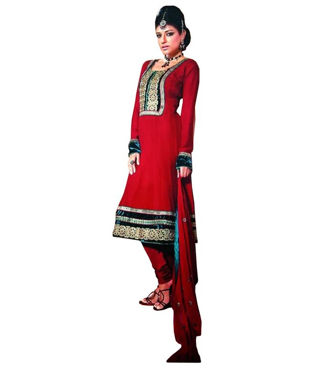Buy Sinina Women's Georgette Semi Stitched Dress Material online
