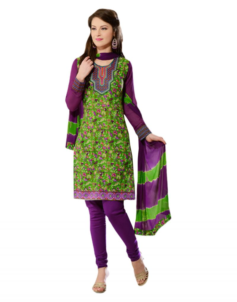 Buy Sinina Multi Color Un Stitched Cotton Embroidered Dress Material (code - 24lwb282) online