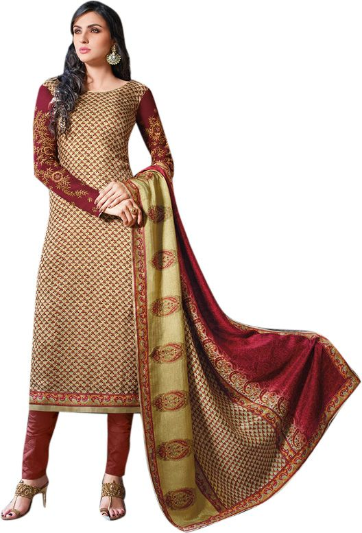 Buy Sinina Women's Tussar Silk Dress Material online