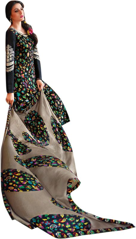 Buy Sinina Women's Tussar Silk Dress Material online