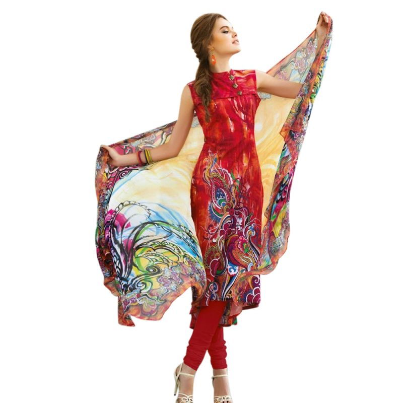 Buy Sinina Multi Color Un Stitched Pure Crepe Dress Material (code - Fcresham6452a) online