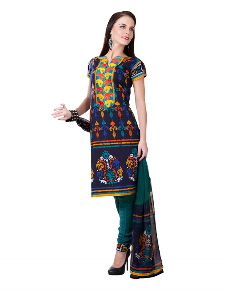 Buy Sinina Cotton Jaquared Multi Color Dress Material-redk25 online