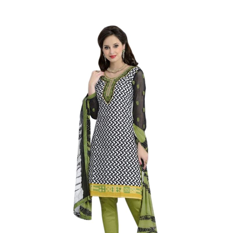 Buy Sinina Multi Color Un Stitched Cotton Embroidered Dress Material (code - Lwb314) online