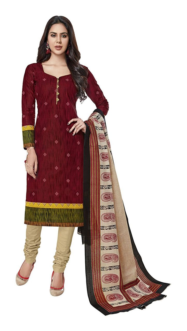Buy Sinina Cotton Printed Unstitched Dress Material online