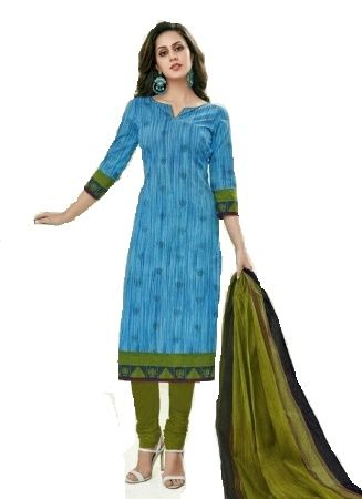 Buy Sinina Blue Color Un Stitched Cotton Printed Dress Material (code - Sgp818) online