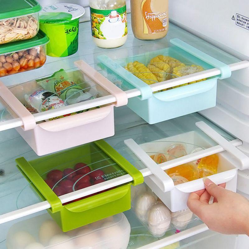 Buy 2 X Refrigerator Fridge Multi-partition Storage Rack Fresh Layer Rack Sliding Drawer online