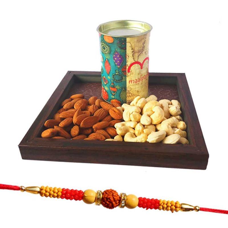 Buy Dry Fruit Gift Hamper - Send Rakhi With Dry Fruit And Gift Box For Bhaiya / Brothers Online online
