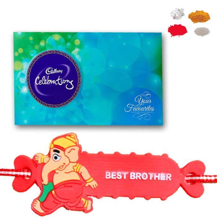Buy Kids Rakhi - Ganesha Cartoon Rakhi For Kids Online - Raksha-bandhan 2017 online