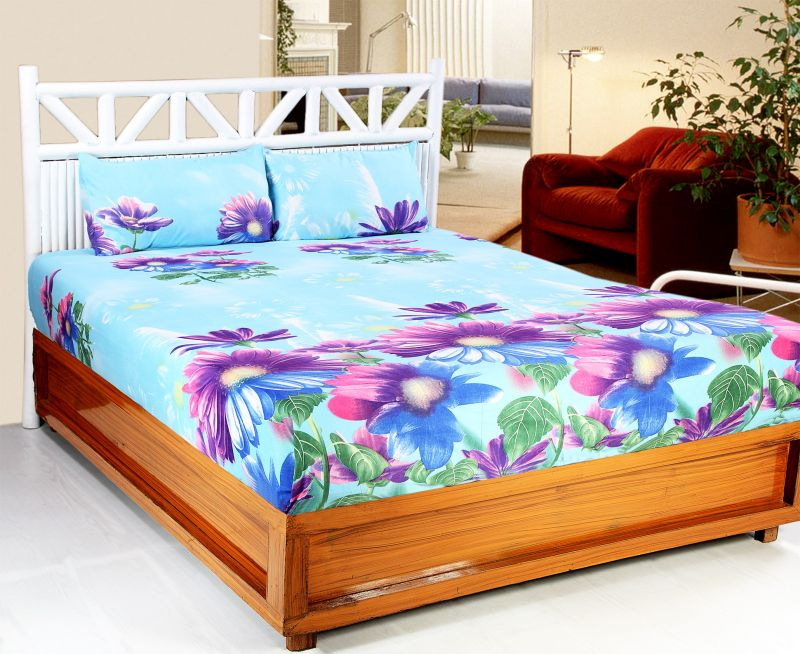 Buy Welhouse India 3d Printed 1 Double Bedsheet With 2 Pillow Covers (3d_db-018) online