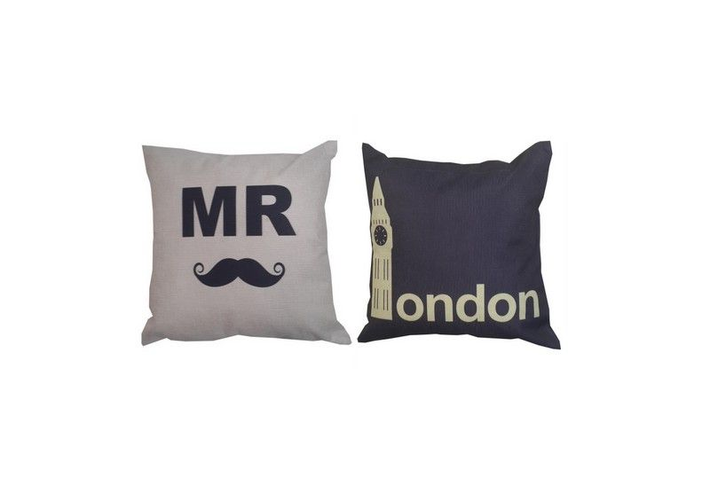 Buy Welhouse India Mr. London Cushion Cover - Pack Of 2 online