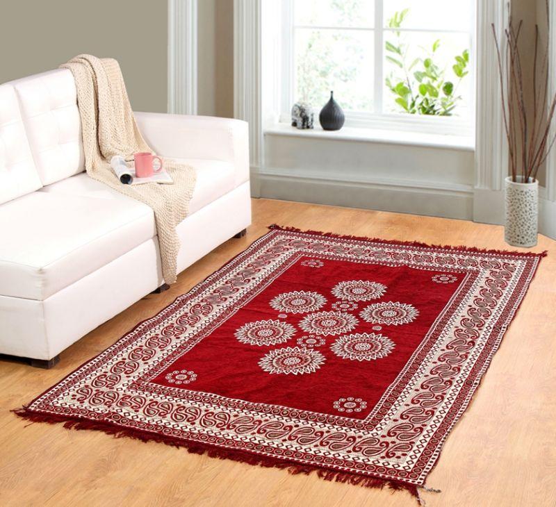 Buy Welhouse India Premium Designed Chenille Carpet (cn_cpt-08) online