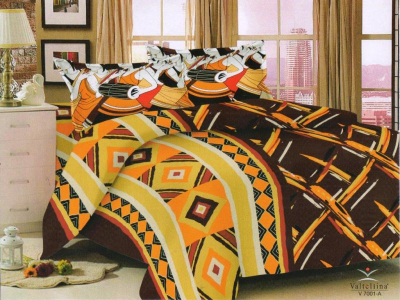 Buy Welhouse India Traditional Print Cotton King Size Bedsheet & 2 Pillow Cover Em-001 online