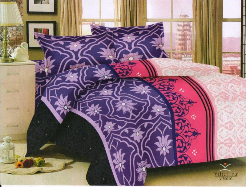 Buy Welhouse India Abstract design king size bedsheet & 2 pillow cover online